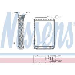 Heat Exchanger, interior heating NISSENS - 733591