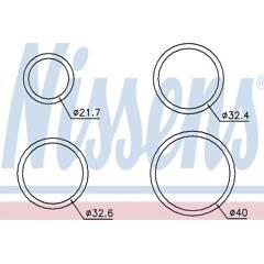 Kit de joints (radiateur d'huile) NISSENS - 9071705
