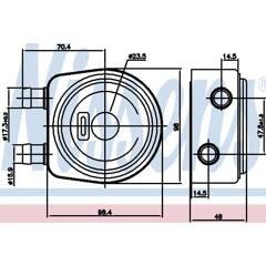 Oil Cooler, engine oil NISSENS - 90697