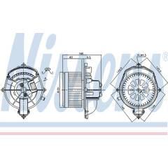 Pulseur d'air habitacle NISSENS - 87288
