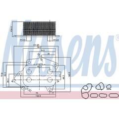 Radiateur d'huile NISSENS - 90670