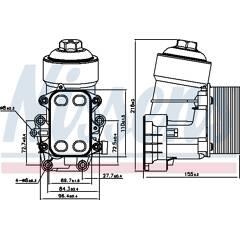 Radiateur d'huile NISSENS - 91158