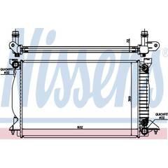 Radiator, engine cooling NISSENS - 60303A