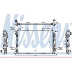 Radiator, engine cooling NISSENS - 60318