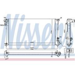 Radiator, engine cooling NISSENS - 61315