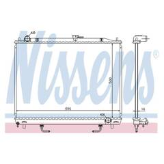 Radiator, engine cooling NISSENS - 628959