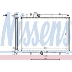 Radiator, engine cooling NISSENS - 63606A