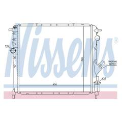 Radiator, engine cooling NISSENS - 63878