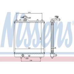 Radiator, engine cooling NISSENS - 64195