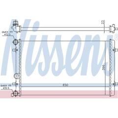 Radiator, engine cooling NISSENS - 65011