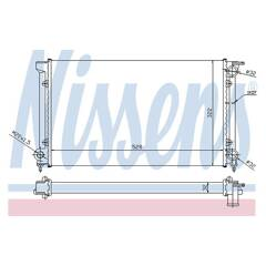 Radiator, engine cooling NISSENS - 651511