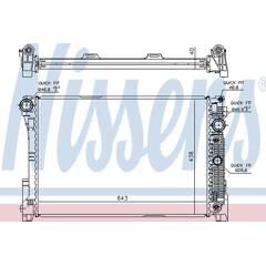 Radiator, engine cooling NISSENS - 67162