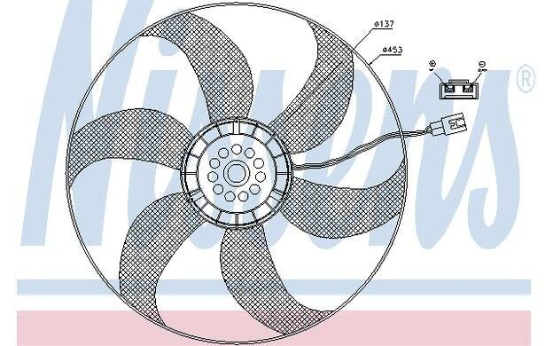 Ventilador, condensador del aire acondicionado NISSENS 85403