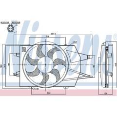Ventilateur (condenseur de climatisation) NISSENS - 85342