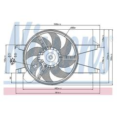 Ventilateur (refroidissement moteur) NISSENS - 85030