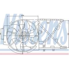 Ventilateur (refroidissement moteur) NISSENS - 85210