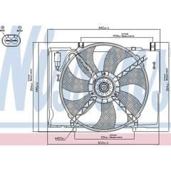 Ventilateur (refroidissement moteur) NISSENS - 85290