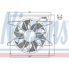 Ventilateur (refroidissement moteur) NISSENS - 85542