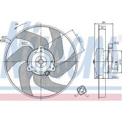 Ventilateur (refroidissement moteur) NISSENS - 85666