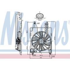 Ventilateur (refroidissement moteur) NISSENS - 85706