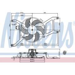 Ventilateur (refroidissement moteur) NISSENS - 85709