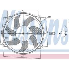 Ventilateur (refroidissement moteur) NISSENS - 85886
