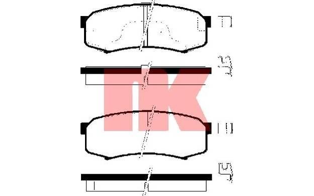Bremsbelagsatz Scheibenbremse NK 221550