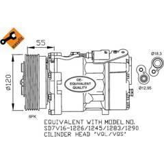 Compresseur de climatisation NRF - 32255