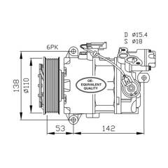 Compressor, air conditioning NRF - 32463