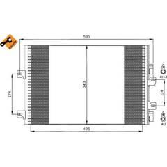 Condenseur de climatisation NRF - 35543