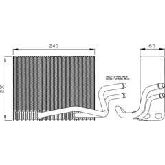 Evaporator, air conditioning NRF - 36098