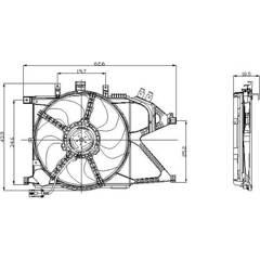 Radiator Fan NRF - 47012