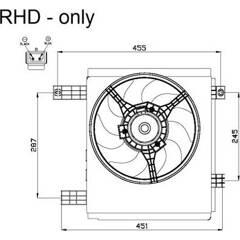 Fan, radiator NRF - 47447