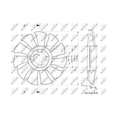 Fan, radiator NRF - 49846