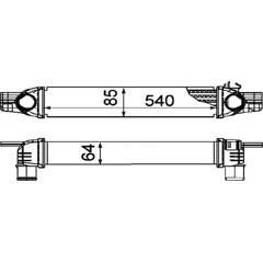 Intercooler (échangeur d'air) NRF - 30254