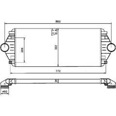 Intercooler (échangeur d'air) NRF - 30803
