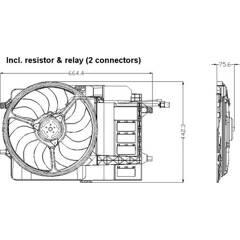 Ventilateur (refroidissement moteur) NRF - 47302