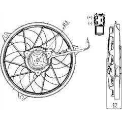 Ventilateur (refroidissement moteur) NRF - 47324