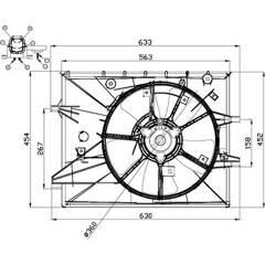 Ventilateur (refroidissement moteur) NRF - 47671