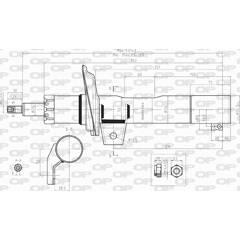 Amortisseur (à l'unité) OPEN PARTS - SAB8030.31