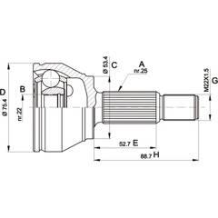 CV joint kit OPEN PARTS - CVJ5515.10