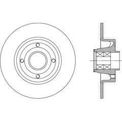 Disque de frein (à l'unité) OPEN PARTS - BDA2165.30