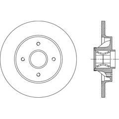 Disque de frein (à l'unité) OPEN PARTS - BDA2387.30