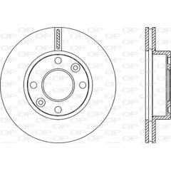 Jeu de 2 disques de frein OPEN PARTS - BDA2250.20