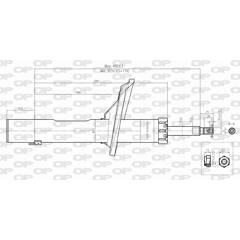 Front shock absorber OPEN PARTS - SAB8395.11