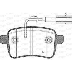 Jeu de 4 plaquettes de frein à disque OPEN PARTS - BPA1450.02