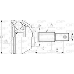 Tête de cardan OPEN PARTS - CVJ5716.10