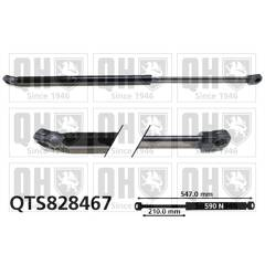 Gas Spring, boot QUINTON HAZELL - QTS828467