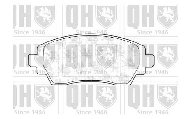 Quinton Hazell BP1434 Lot de plaquettes de frein pour disque de frein Essieu arrière RC482689P OE Quali
