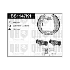 Kit de freins arrière (prémontés) QUINTON HAZELL - BS1147K1